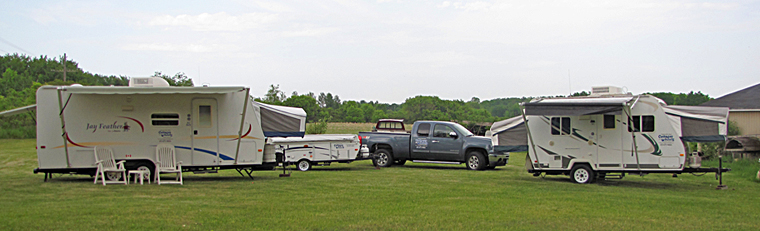 Trailers and truck